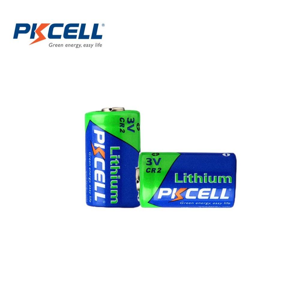 2PCS*PKCELL 850mAh CR2 15270 CR15H270 3V Lithium Battery(China (Mainland))