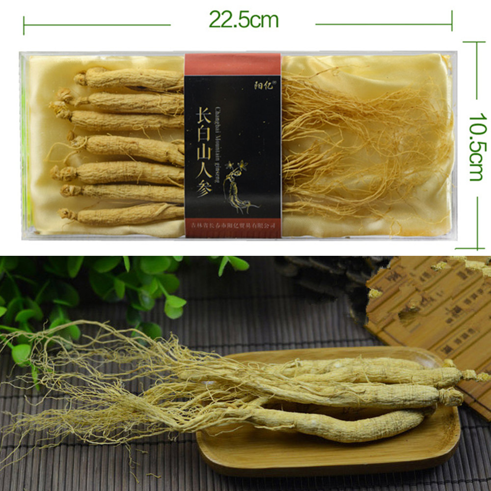 5 -8 pcs/lot 8 Years Dry ginseng Root Chinese Herbs Organic Changbai Mountain Insam Panax For Men care herbs Herbal Tea(China (Mainland))