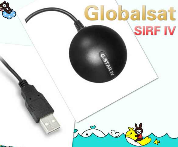 Wholesale GlobalSat BU-353S4 USB GPS Receiver SiRF Star IV with Cable G Mouse For Laptops PC Portable Mini GPS Receiver(China (Mainland))