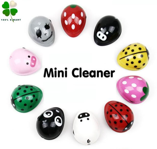 Free shipping wholesale Lovely cartoon mini desktop vacuum cleaner/ table dust collector 5pcs/lot(China (Mainland))