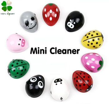 Free shipping wholesale Lovely cartoon mini desktop vacuum cleaner/ table dust collector 5pcs/lot