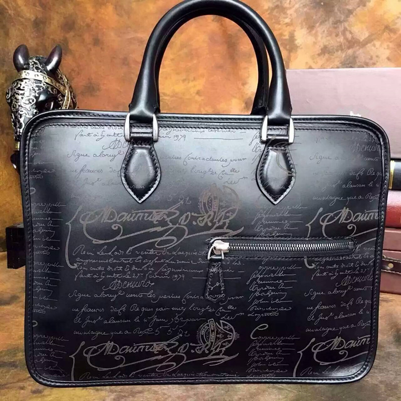 Best selling handmade patina leather briefcase bags laptop cases Italian calfskin leather handbags men luxury designer bag sale(China (Mainland))