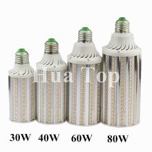 Buy Bombillas LED Corn Bulb Lamp E27 E40 30W 40W 60W 80W AC 85V-265V Lampada Aluminum LED Corn Light Spot Bulbs SMD2835 LED Lamps for $8.26 in AliExpress store