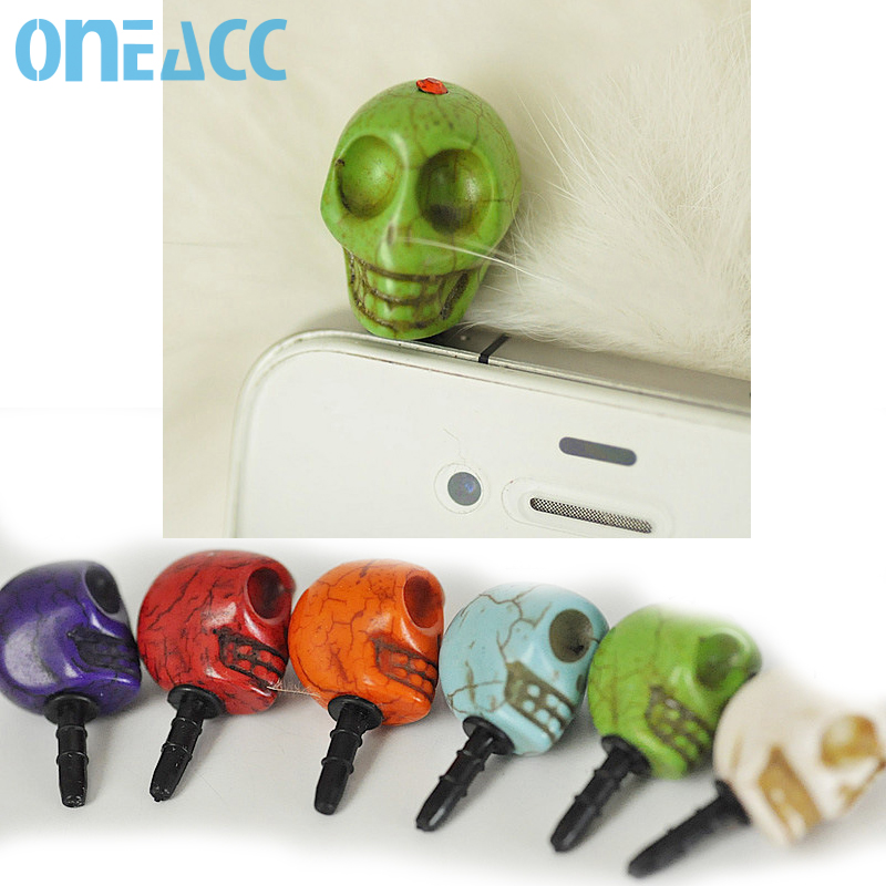 New! skull dust plug for 3.5mm Earphone Jack universal headset dust plug(China (Mainland))