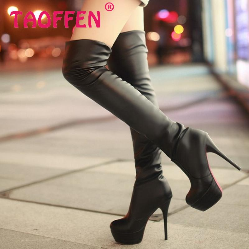 CooLcept Free shipping over knee long high heel boots women snow fashion winter warm boot footwear shoes P9200 EUR size 31-43<br><br>Aliexpress