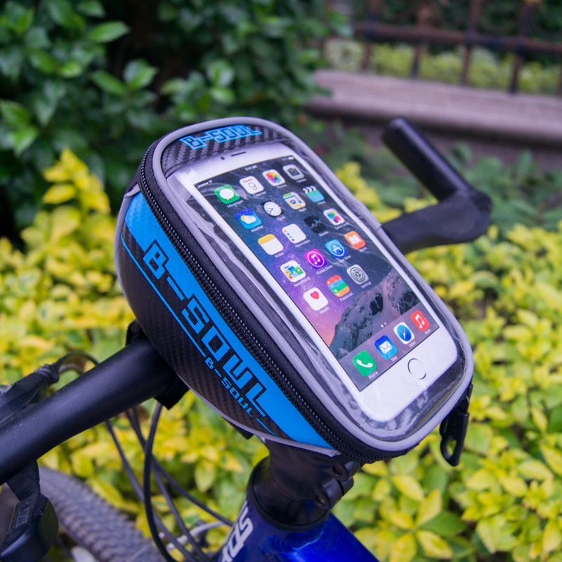 """B-soul of the new public bicycle cycling 4.8 """"/ 5.5"""" front pipes Trame red bag for iPhone 4 / 4S / 5 / 5S HTC Samsung"""