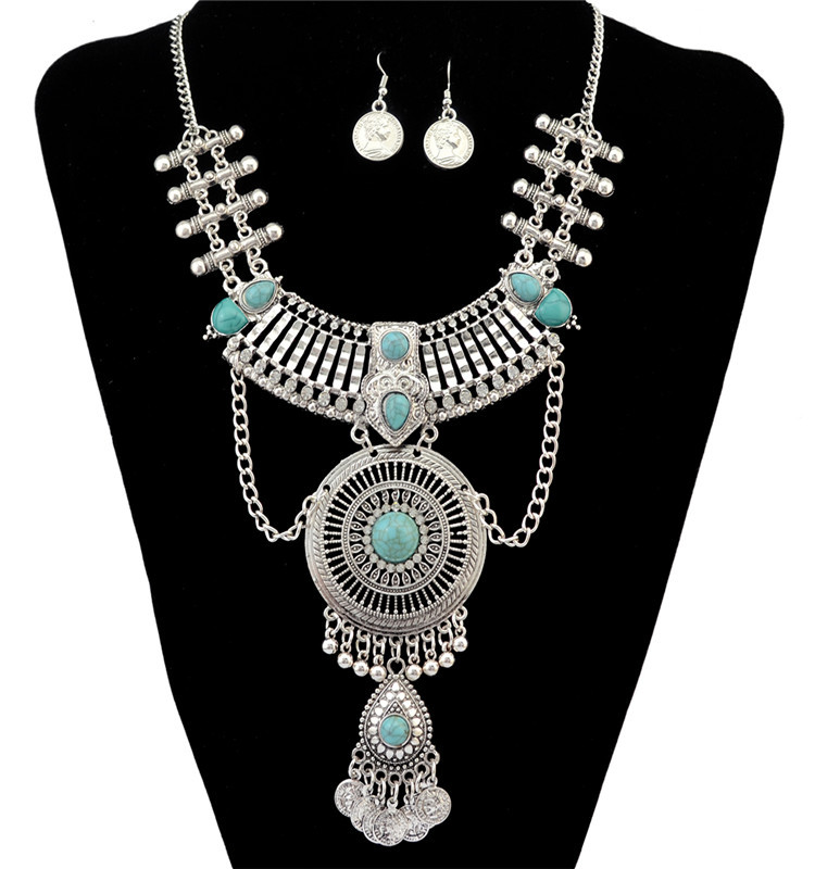 2016 new fashion power big gem statement necklace & pendants collar long vintage chains choker maxi necklaces women fine jewelry(China (Mainland))