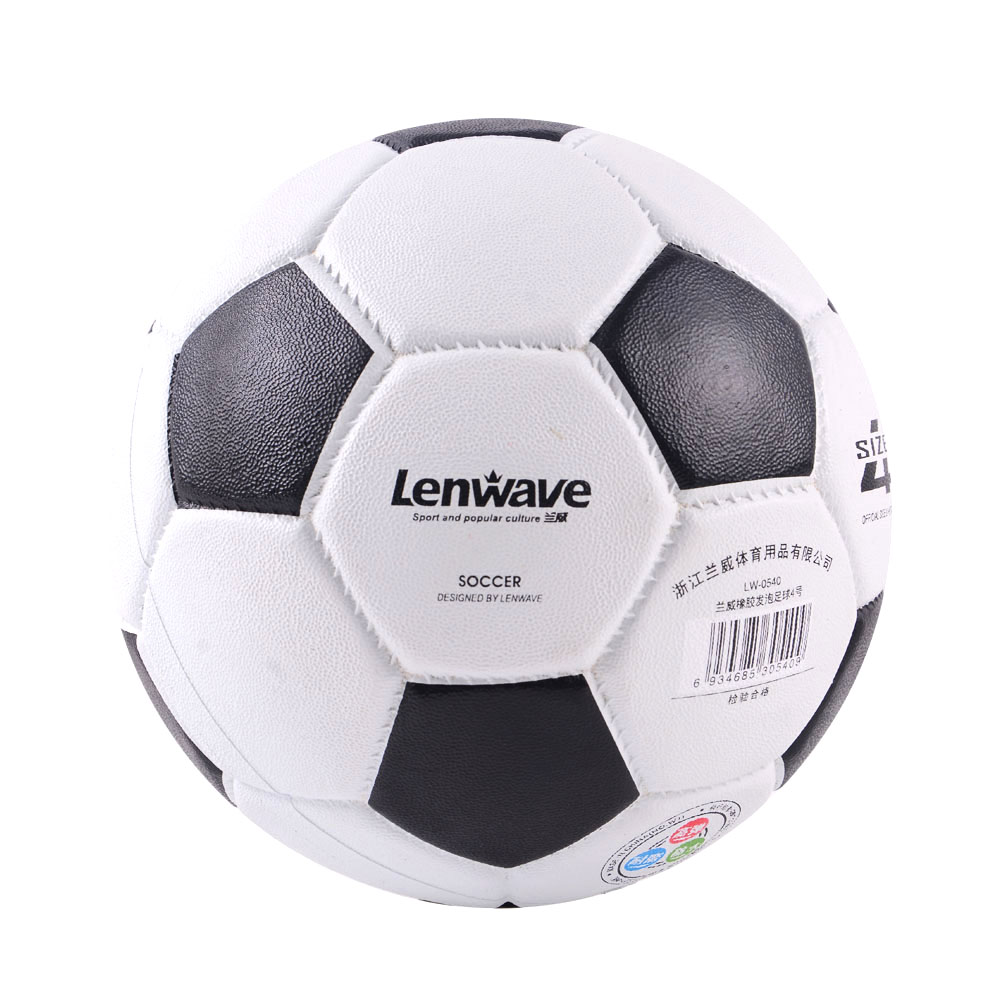 White Black Classic Style Men Football Soccer Ball Rubber Material Ball Size 4 Soccer Ball Children Training Ball(China (Mainland))