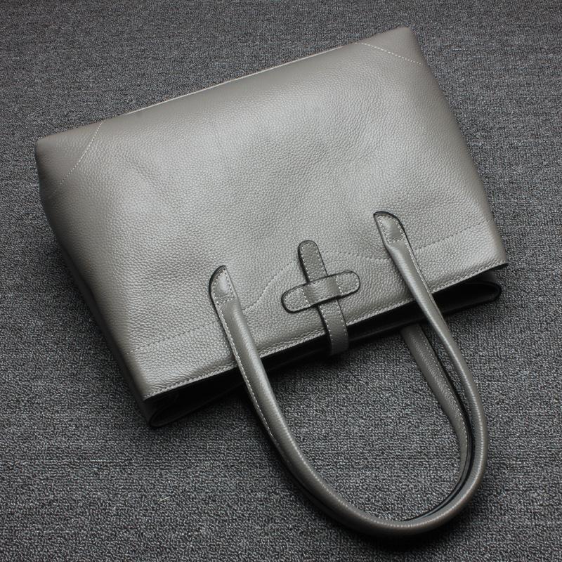 Fashion Women Genuine Leather Handbags Brief OL Ladies Large Capacity Tote Crossbody Shoulder Bags Female Bolsas LZ5039