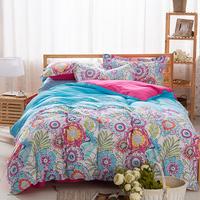 40S Cotton Bedding Sets Queen,Double Duvet cover set,Wedding Bed Set,flower Colorful bed linen bed sheet,4pcs bedclothes#CM1503
