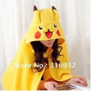 Fashional and cute Pikachuu Plush Soft Cloak, 1pc