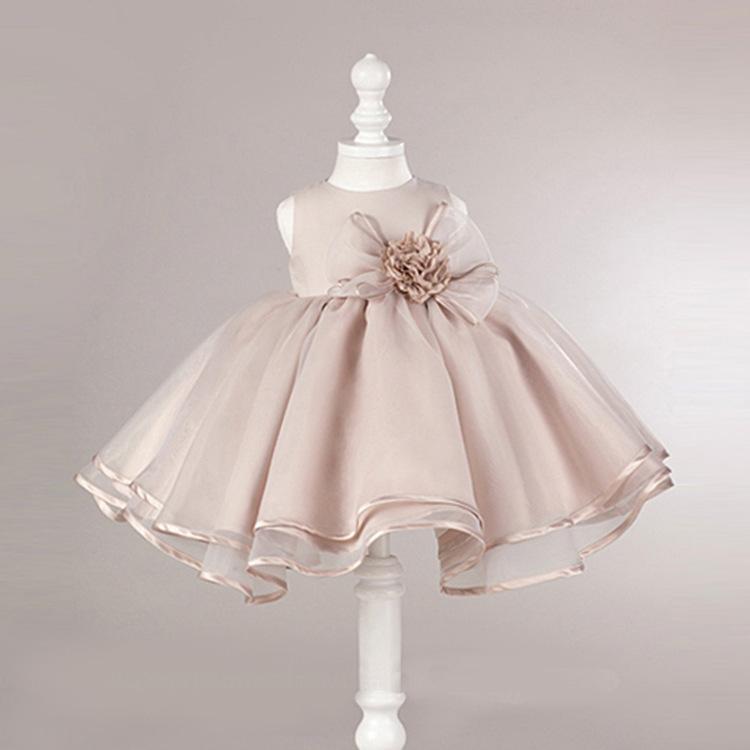 Скидки на Корейские Девушки Рукавов Принцесса Шоу Летом Платье Принцессы Свадьба Детская Одежда Сетки Серый
