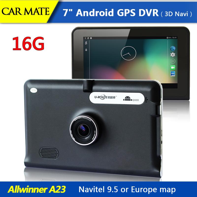 7 inch Android GPS Navigation Car dvrs Camera Recorder Truck vehicle gps Navi tablet pc /WIFI /FM / Navitel or Europe Map 16GB(China (Mainland))