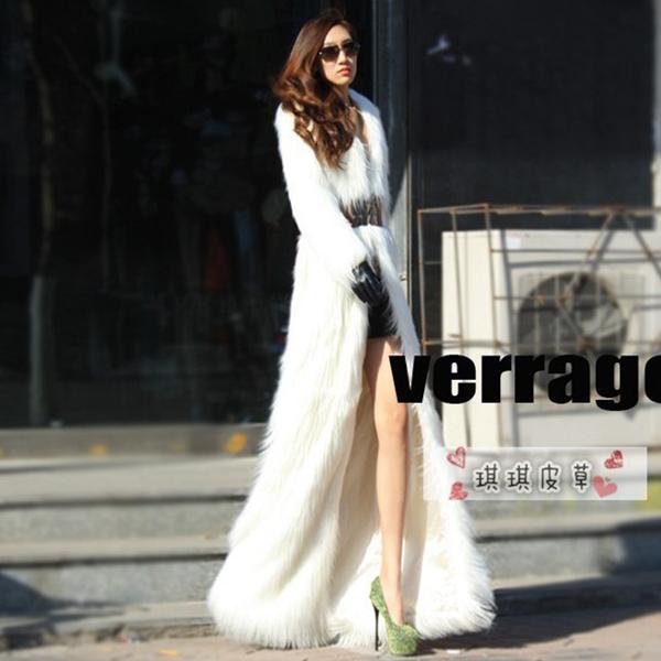 Long White Faux Fur Coat