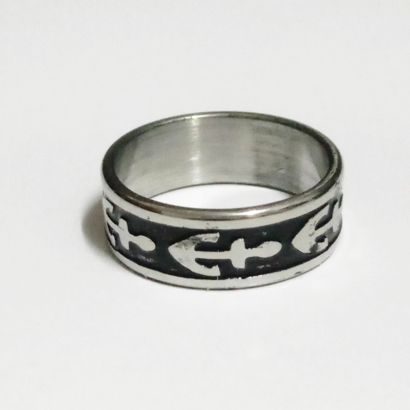 design men vintage punk stainless steel titanium ring for women or men whole jewelry rings