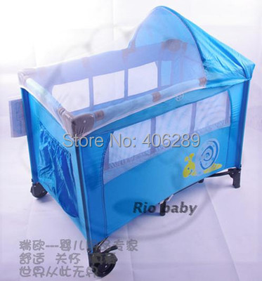 Baby's Folding Bed : Folding Portable Baby Bed Wood Travel Bed Child Game Bed Baby Bedding ...