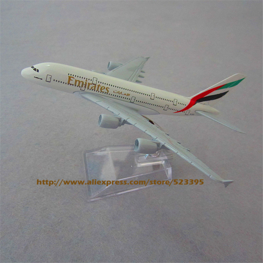 1:400 Emirates A380 Airbus Airlines Plane Model 14.8cm Alloy Airways Aviation Model Kids Educational Toy Free Shipping(China (Mainland))