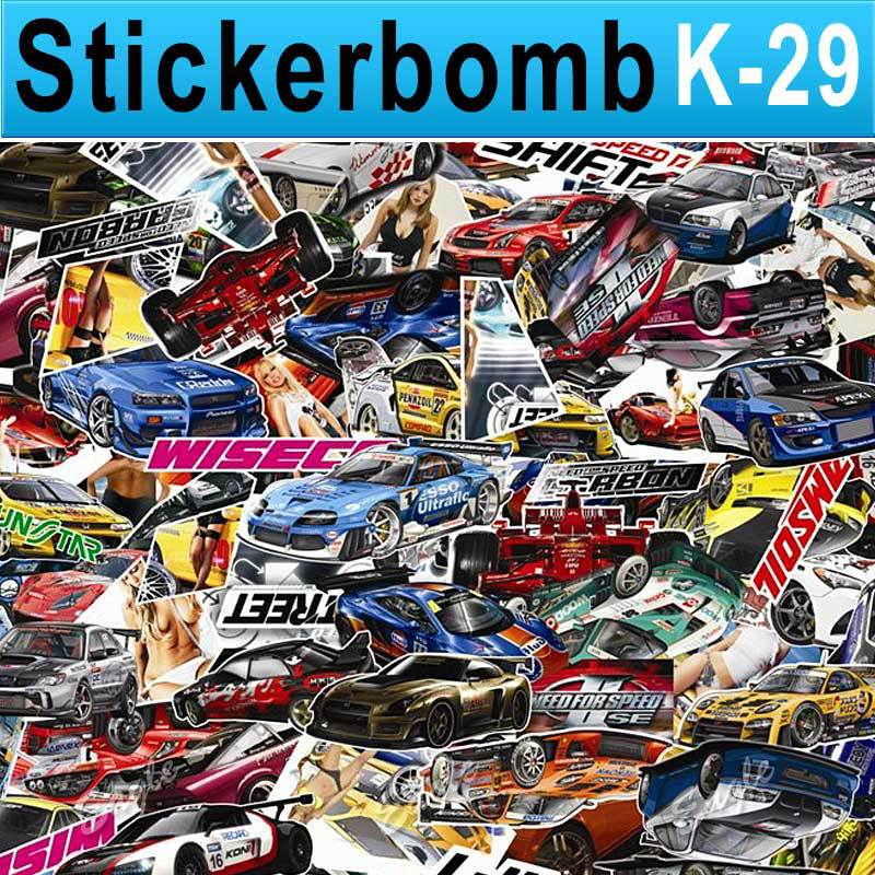 Sticker Bomb Sheet Photo Collections World Famous Car Style Vinyl Roll / Size: 1.5x 30 Meter / FREE SHIPPING by FEDEX / K29(China (Mainland))