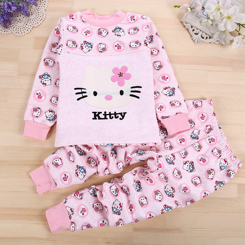 Children's Wear Winte Warm Underwear Cashmere Thickening Girl Boy Set 2 Sets of Baby Autumn Pants Elastic Kids Thermal Leggings(China (Mainland))