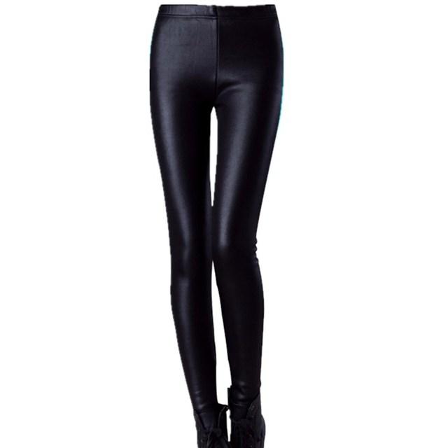 Женщины и девушки Искусственная Кожа Тонкая Леггинсы большие ярдов Lederhosen S M L XL XXL XXXL девять очков Среднего талии брюки