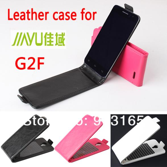 10pcs/lot 100% genuine leather flip leather case for jiayu G2F ,for jiayu G2F genuine Leather Case Flip cover free shipping
