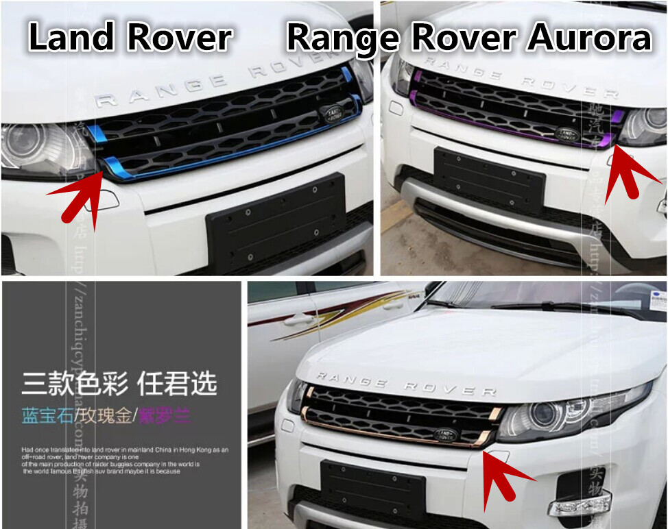 Grilles Front Car Bumper Mesh Grille Article decoration for Land Rover Range Rover Aurora car Front Mesh Grill shipping(China (Mainland))