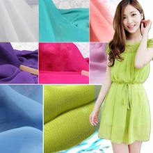 Coloful Chiffon fabric Soft for dress lining cloth 100*150cm material 100d Georgette fabrics DIY for wedding curtain material