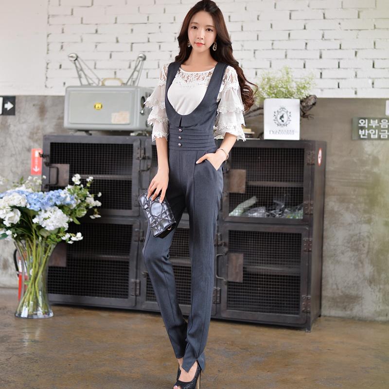 Dabuwawa high waist sleeveless jumpsuit long pantsОдежда и ак�е��уары<br><br><br>Aliexpress