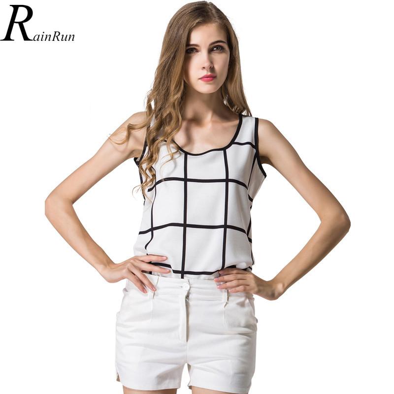 RainRun Hot font b Plaid b font Blouse Feminino Chemise Femme Women Blouses White Summer Shirts