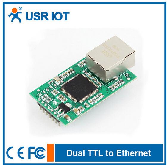 (USR-TCP232-E2) Serial UART TTL to TCP/IP Ethernet Module,LAN Module, CE FCC RoHS Certificate