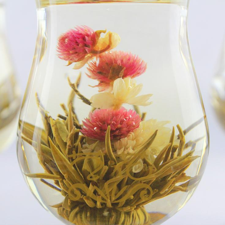 Hot Selling 20 Types Fashion Designed Chic Different Handmade Blooming Flower Green Tea(China (Mainland))