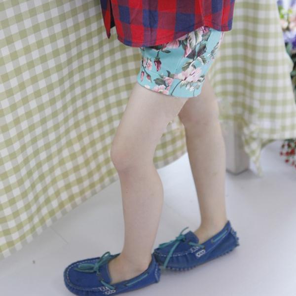 Дети детские дети девушка цветочный принт брюки с манжетами хлопка основания