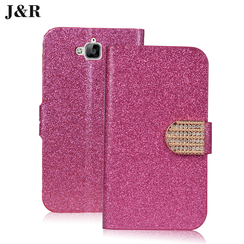 PU Leather Case For Huawei Honor 4C Pro Cover Diamonds Luxury For Huawei Honor 4C Pro Card Holder Kickstand Cover Phone Bags(China (Mainland))
