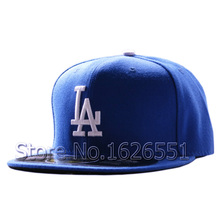 Men's full Closed Los Angeles Dodgers fitted hat sport team high quality on field embroidery baseball cap(China (Mainland))