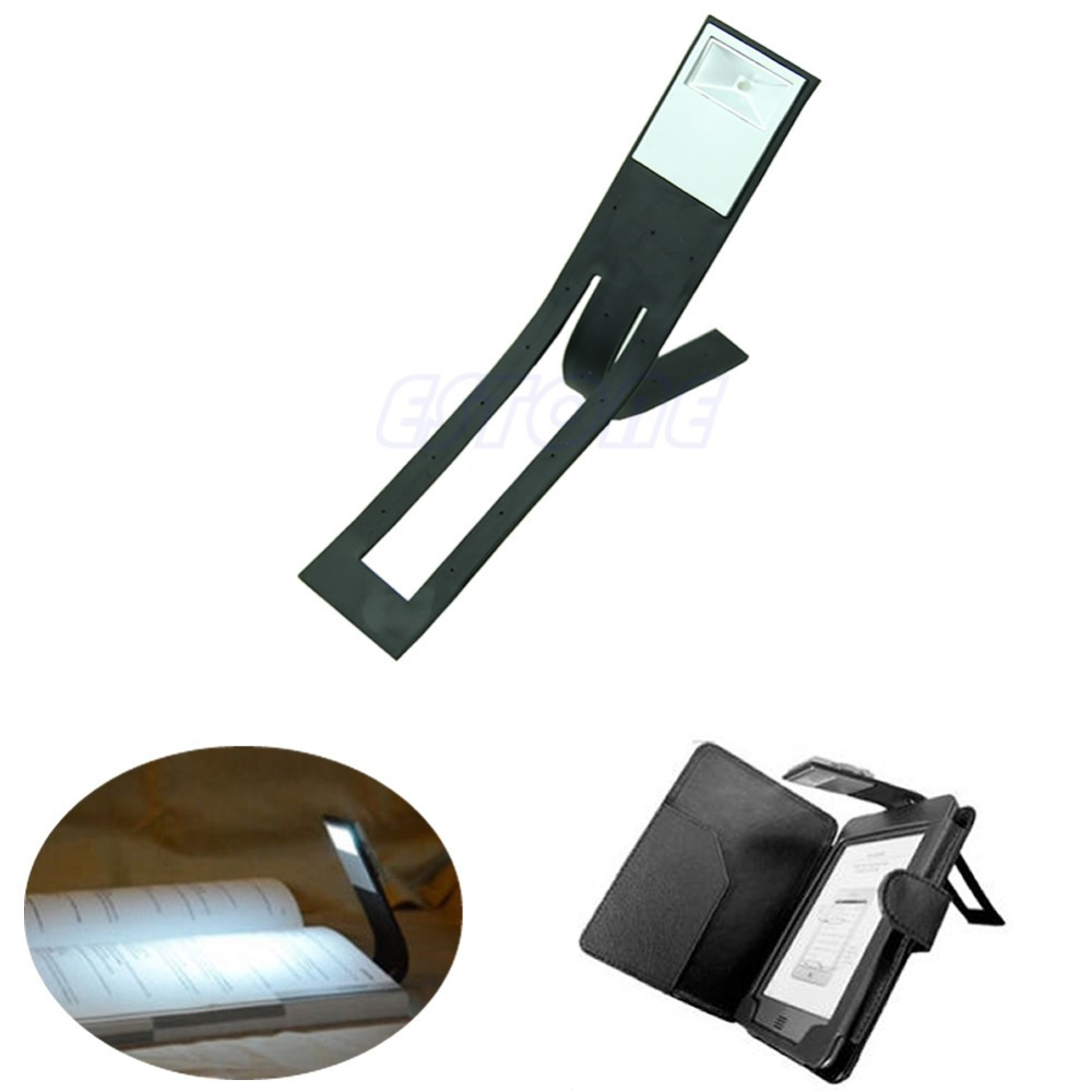 New Black Flexible Folding LED Clip On Reading Book Light Lamp For Reader Kindle(China (Mainland))