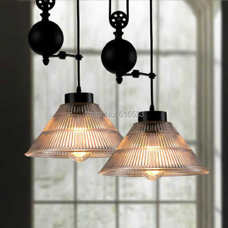 modern vintage american loft lustre pulley lifting industrial edison pendant lamp adjustable. Black Bedroom Furniture Sets. Home Design Ideas