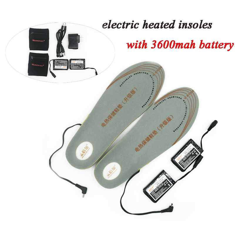 3600MAH Electric Heating Insoles Battery Rechargeable Smart Battery Warming Shoes Pad Winter Keep Feet Warm Outdoor Ski Hiking(China (Mainland))