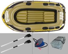 3 person FISHMAN 252*125*40cm fishing boat inflatable boat,kayak, rowing boat, paddle oar pump seat bag, boat fishing(China (Mainland))