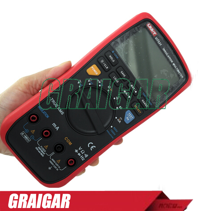 Handheld Portable Digital Insulation Resistance Multimeters UNI-T UT531 Digital Multimeter Capacitor Volt Ohm Ammeter<br><br>Aliexpress