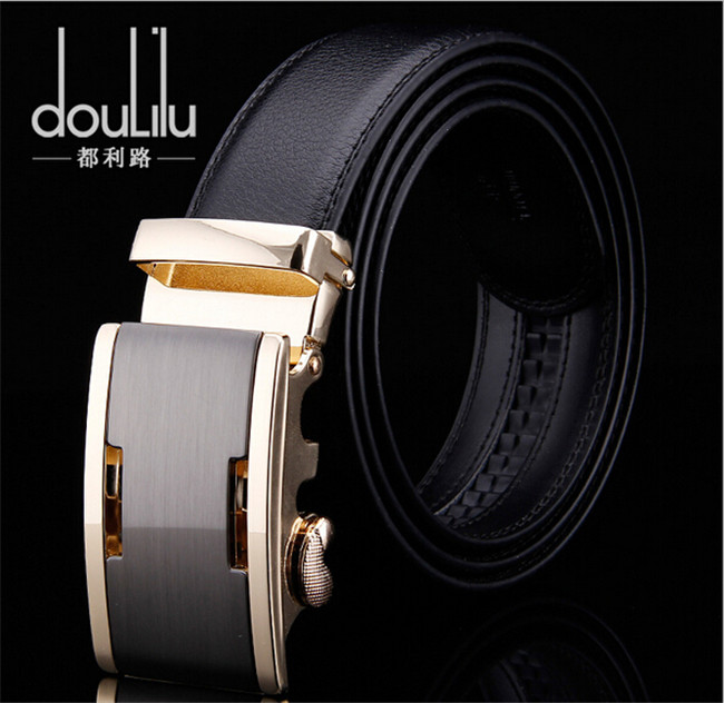 2016 New Fashion Men's Genuine Leather Belts , Brand Designer Luxury Automatic B Buckle Business Belts For Men(China (Mainland))