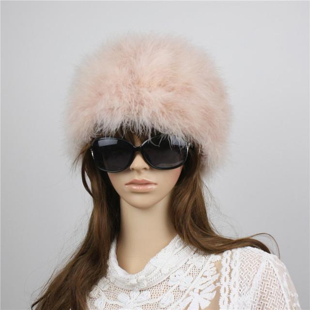LiyaМех новые женские зимние ручной настоящее турция зимой шляпу крышка шапочки полный ...