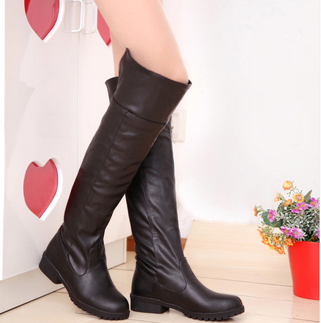 2015 hot wholesale attack on titan cosplay high boots ,botas femininas , spring style cosplay shoes ,34-48 sizes(China (Mainland))
