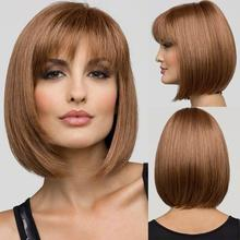 Heat Resistant Synthetic Bobo Blonde Short Straight Hair Wigs for Women Wigs free shipping# L04167(China (Mainland))