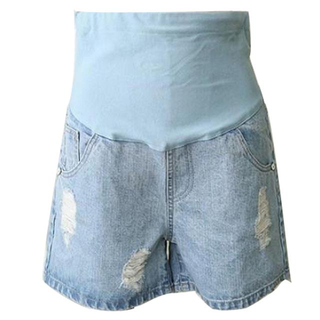 2016 лето беременным шорты разорвал высокий эластичный пояс короткие для беременных ...