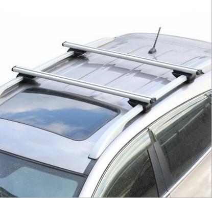 2 Piece Universal Car Roof Rack Cross Bar Kayak Snowboard Bike Carrier Anti-theft Lock Aluminum 100kg Top Cargo Luggage Carrier(China (Mainland))