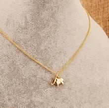 New fashion jewelry accessories Simple gold plated Elephant collar chain link necklace for women girl nice gift N053