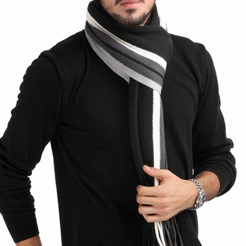 Winter design striped scarf men shawls scarves,2016 ...