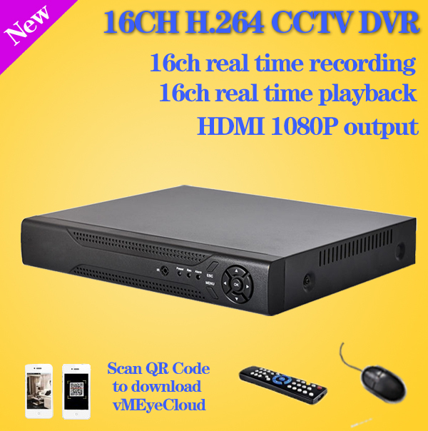 Free shipping 16 channel cctv digital video Recorder realtime recording HDMI 1080P security surveillance 16ch standalone dvr(China (Mainland))
