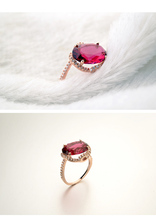 R3114837 FASHION WEDDING RING OF RUBY CZ Diamond WITH WHOLESALE PRICE for Christmas jewelry and other