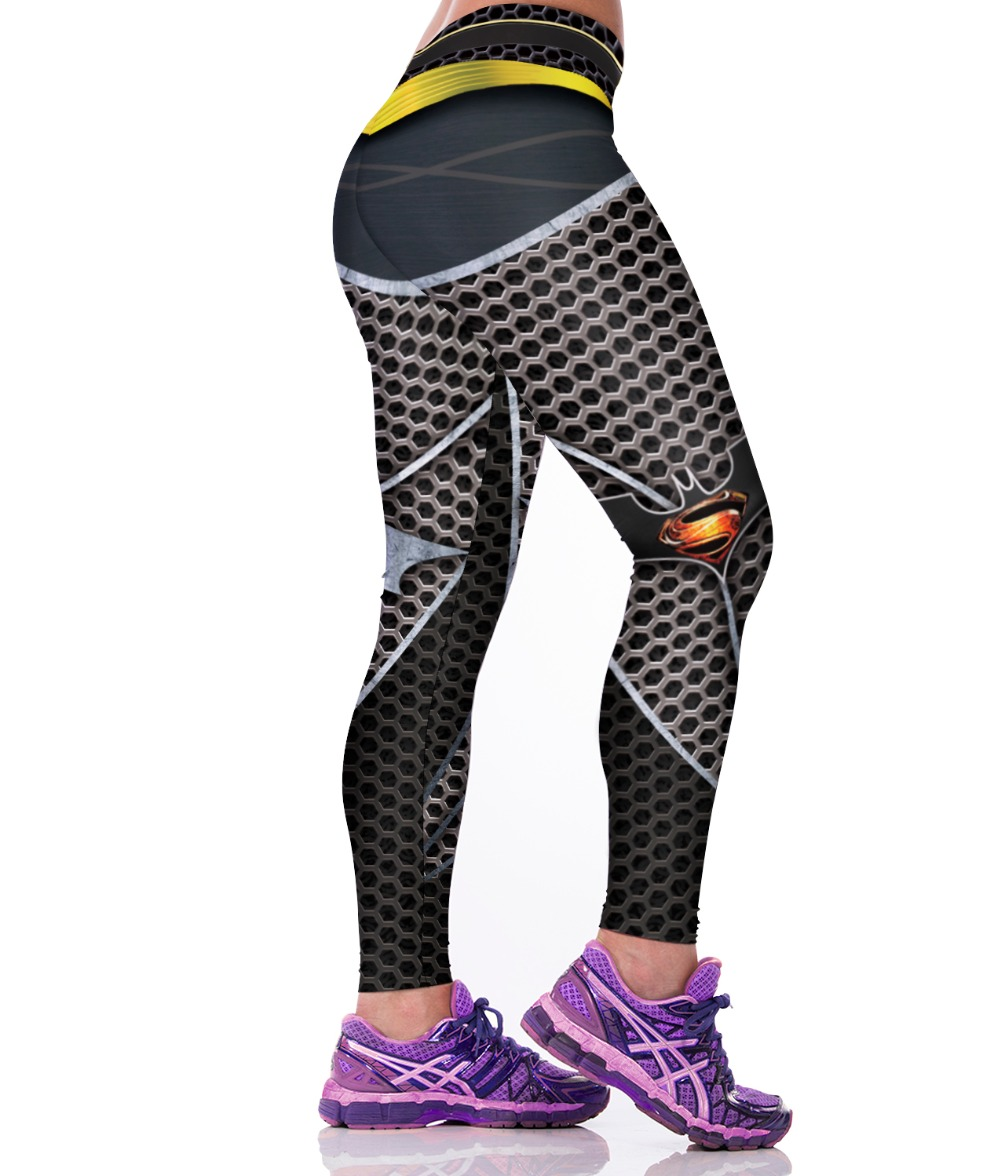 Hot! 3D Honeycomb Super Man Printed Leggings Sport Women Gym Clothes Punk Rock Fitness Clothing Spandex Jogging Work out Legins(China (Mainland))